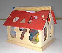 5355 Деревянный домик-сортер