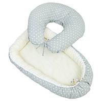 Матрасик-кокон для малыша + подушка для кормления (Babynest)
