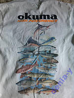 WT1WS Футболка для рыбака OKUMA Рыбы НОВАЯ