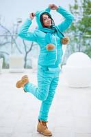 """Женский дутый спортивный костюм с капюшоном + шарф """" Ушки """" Фабрика Моды"""