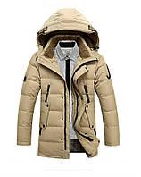 Мужская зимняя куртка пуховик парка JEEP в наличии, бежевый
