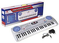 Детское пианино-синтезатор SD-5490 с микрофоном