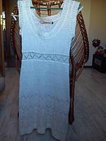 Теплое платье-сарафан S