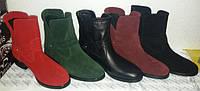 Ботинки женские молодежные на плоской подошве из кожи, замши, стильные   женские ботинки на низком ходу.