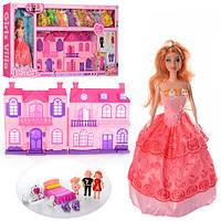 Домик с куклой  668-7 с куклой ,звук. свет., наряды