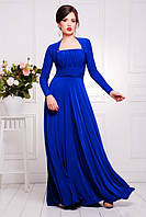 Длинное вечернее платье в пол  Анита электрик 42-50 размеры
