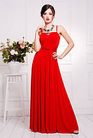 Длинное вечернее красное платье в пол  Анита  42-50 размеры