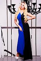 Длинное женское платье в пол Бэлла электрик 42-50 размеры