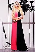 Длинное женское платье в пол Бэлла коралл 42-50 размеры