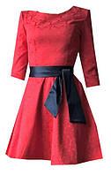 Платье женское с поясом узор, фото 1