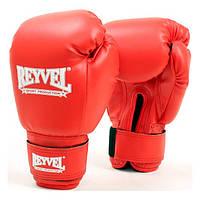 Перчатки боксерские Reyvel винил 6 oz красные