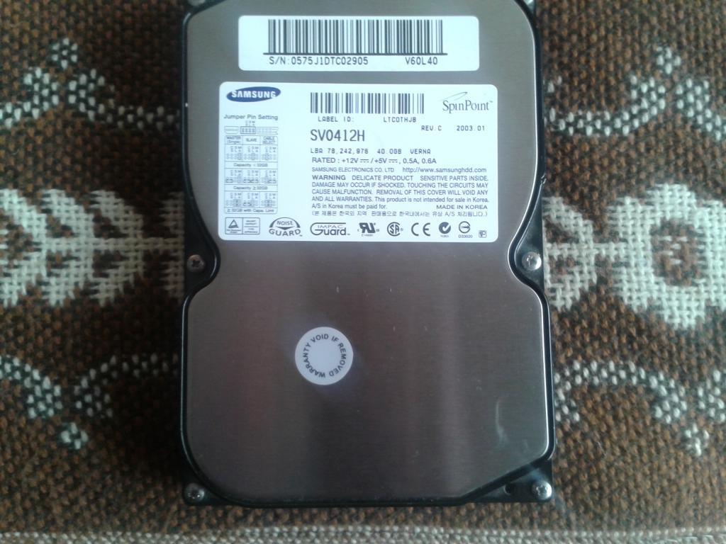 Жесткий диск Samsung SpinPoint SV0412H 40GB