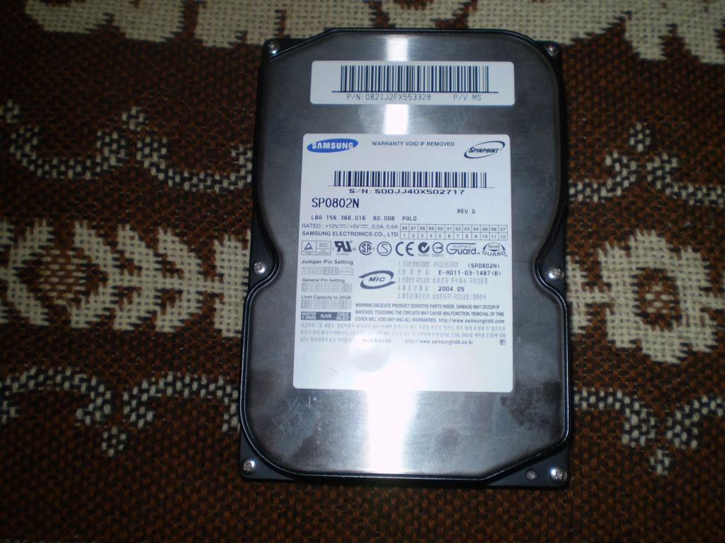 Жесткий диск Samsung SpinPoint SP0802N  80GB