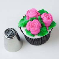 Насадка кондитерская 1 шт металл Тюльпан 8 (Роза 10 лепестков)