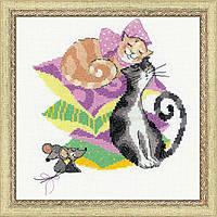 Набор для вышивания крестом «Кошки-мышки» (1466)