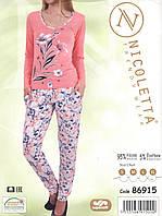 Женская пижама  из вискозы с цветочным принтом Nicoletta 86915