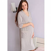 Халат трикотажный на запах для беременных и кормящих мам