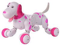 Робот-собака на радиоуправлении HappyCow Smart Dog (розовый)