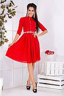 Платье женское рубашка с поясом, фото 1