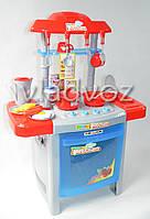 Детская игрушечная кухня со звуком, плита для девочки 2 конфорки happy kitchen красная с серым