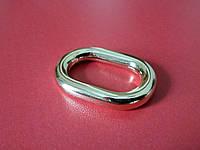 Кольцо для сумки белое золото 4025