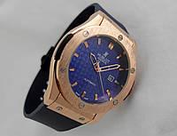 Мужские часы HUBLOT - BLUE CARBON, цвет золото, черный циферблат
