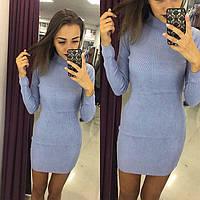 Платье , по фигуре , из ангорки (черные, голубые, бежевые, серые
