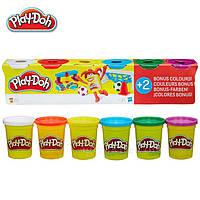 Набор пластилина Play-Doh 6 баночек общим весом 672 грамма (B6755). Оригинал Hasbro