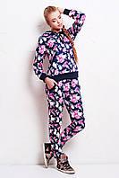 Модный зимний костюм с начесом, брюки, кофта с капюшоном
