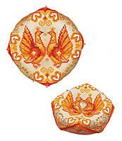 Набор для вышивания крестом «Свадебная подушечка для колец» (1474АС)