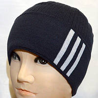 Мужская шапка машинной вязки