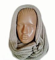 Шарф-снуд(хомут) вязаный женский цвет орех