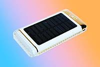 Универсальный аккумулятор с солнечной зарядкой Power Bank UKC 15000mAh 3USB + LED