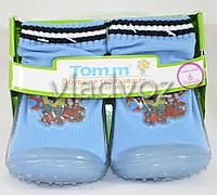 Детские носки с подошвой для мальчика 8 (24 месяцев) Губка Боб 13.5 см-14.5 см.