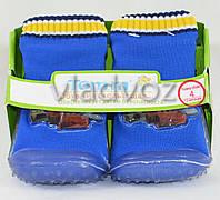 Детские носки с подошвой для мальчика 8 (24 месяцев) Тачки 13.5 см-14.5 см.