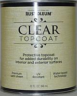 Лак для защиты декоративных поверхностей,акриловый,полуматовый Rust Oleum 0,946 л.