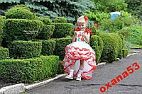 Нарядное платье в украинском стиле.