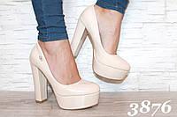 Модные туфли на удобном каблуке