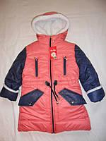 """Стильная курточка для модных девочек """"ДАНА""""на овчине."""