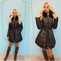Зимняя женская куртка черная, бордовая