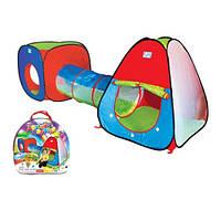 Детская палатка 3 в 1 с тоннелем М 2958