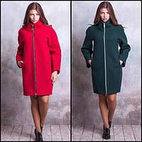 Пальто на молнии с воротником-стойкой