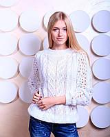 """Яркие свитера крупной вязки """"Мария"""" с вырезом на спине, р. 46-48, цвета"""