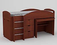 Кровать детская односпальная чердак ламинированное ДСП