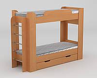 Кровать детская односпальная чердак Твикс ламинированное ДСП