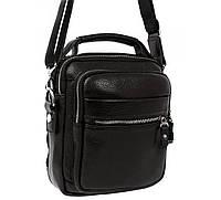Мужская кожанная сумка с ручкой и наплечным ремнем Alvi AV-40-5150