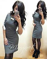Женское модное платье с оборками