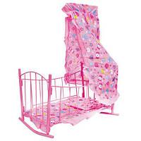 Кроватка для кукол с балдахином (9349)