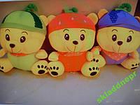 Детская мягкая массажная игрушка Мишка фрукт