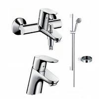 Focus E2 Душевой набор смесителей для ванны (31730000+31940000+27763000)